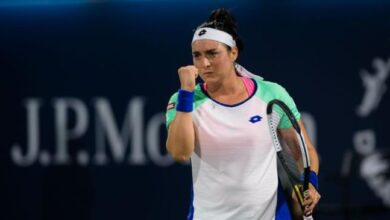 Photo de Tennis -Tournoi d'Ostrava : Ons Jabeur bat la lituanienne Jelena Ostapenko et va en quarts de finale