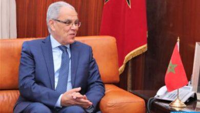 Photo de Maroc-Royaume-Uni: M. Loudyi s'entretient à Rabat avec le Général de Corps d'Armée britannique, Sir John Lorimer