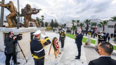 Photo de Tunisie -Commémoration du 5e anniversaire du décès des agents de la Garde présidentielle tombés en martyrs dans une attaque terroriste