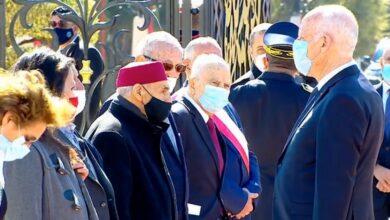 Photo of Kaîs Saied à Monastir pour la commémoration du 21ème anniversaire du décès de Bourguiba
