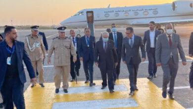 Photo de Lamamra en visite à Tripoli pour participer à la Conférence sur la stabilité de la Libye